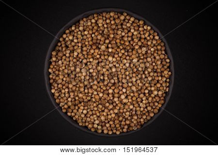 Coriander Seeds In  Small Bowl