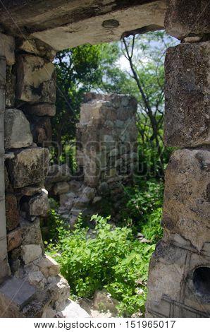 Remaining Wall Of An Old Shack At Betty Hope Plantation