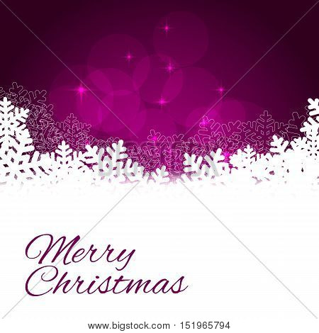 Winter violet background with snow. Christmas snow surface. vector illustration