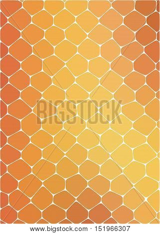 honeycomb yellow-orange color, reproducing the form of honey frames