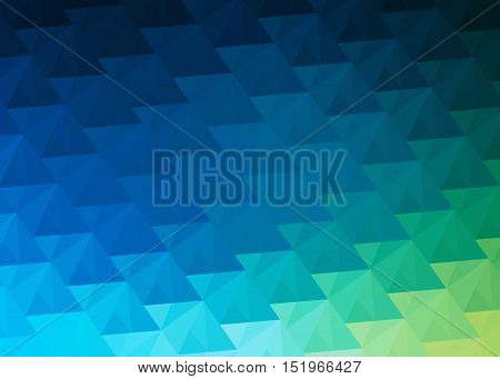 background with triangles with blue and green hues