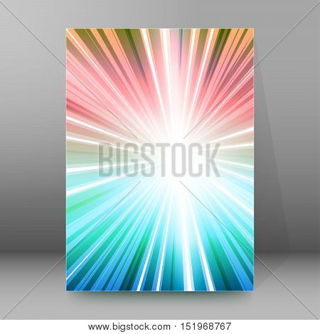 Background Report Brochure Cover Pages A4 Style Abstract Glow92