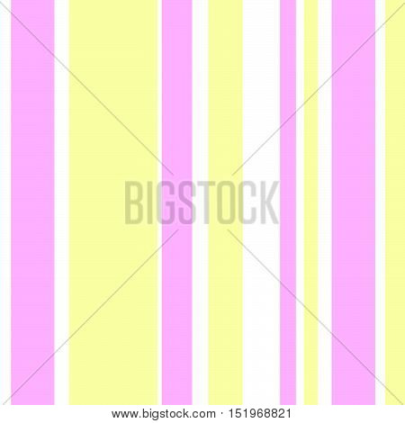 Striped pattern with stylish and bright colors. Pink white and yellow stripes