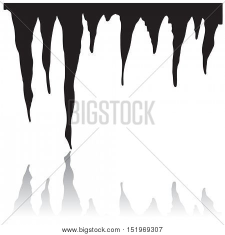 Icicles silhouette