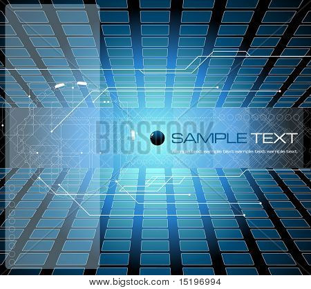 Blue futuristic background composition - vector illustration