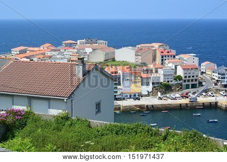 Typical small fishing village in Galicia, Northern Spain