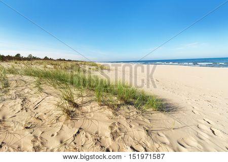 Baltic sea sand dunes,, Baltic coast Poland.