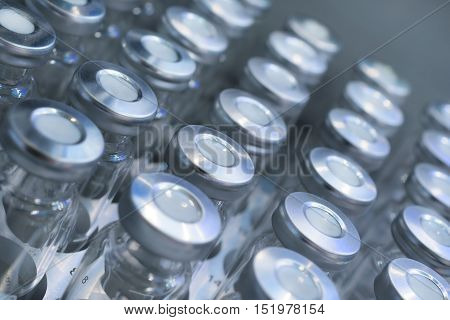 Glass Vials For Samples.