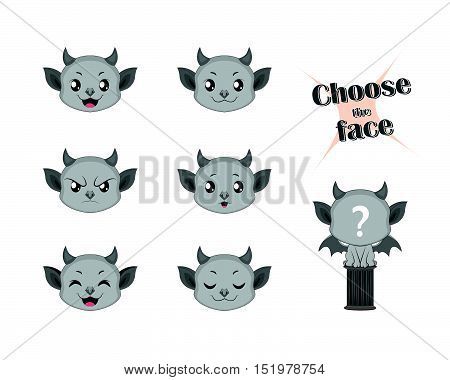 Make your own cute little gargoyle set
