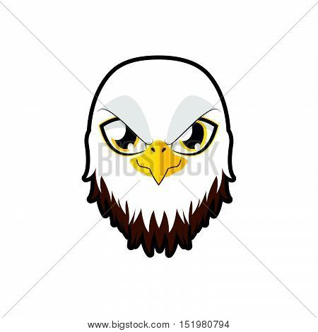 Eagle portrait illustration art for multiple purposes
