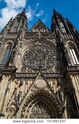 St. Vitus Cathedral in Prague Czech Republic