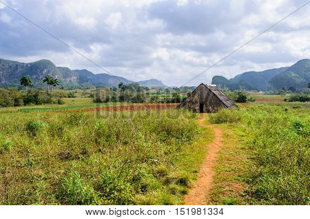Small Hut In Vinales Valley, Cuba