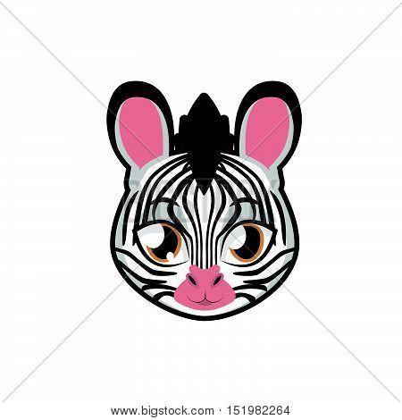 Zebra portrait illustration art for multiple purposes