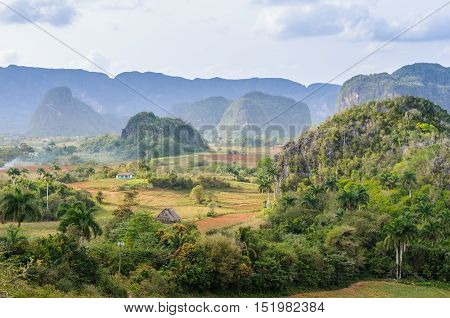 Panoramic View In Vinales Valley, Cuba
