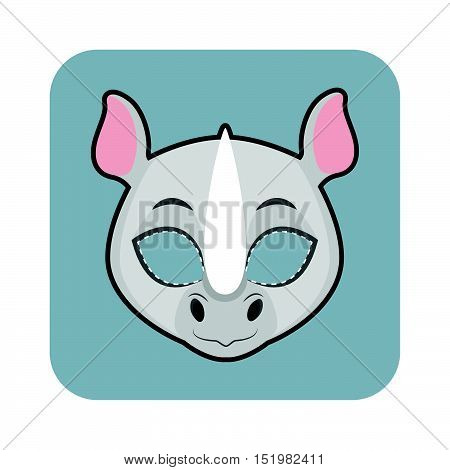 Rhino Mask For Halloween And Other Festivities