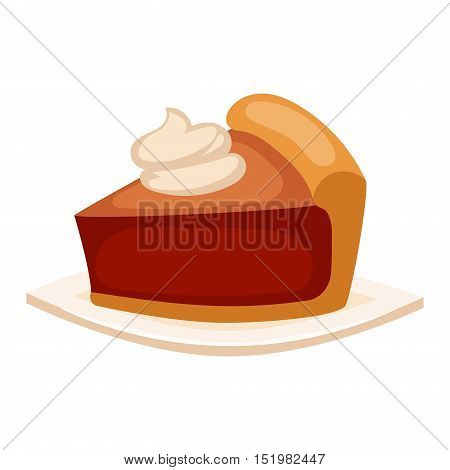 Sweet cake isolated on white. Traditional sweet cake holliday vector. Cake food sweet vector. Food fresh cake isolated