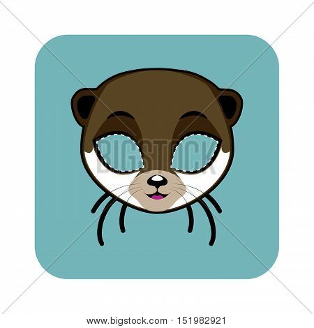 Otter Mask For Halloween And Other Festivities
