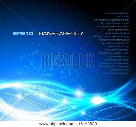 Blue stylish fantasy background - vector illustration