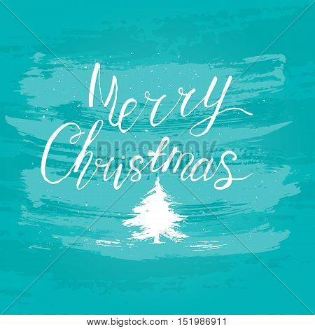 Merry Christmas watercolor hand drawn vector illustration.