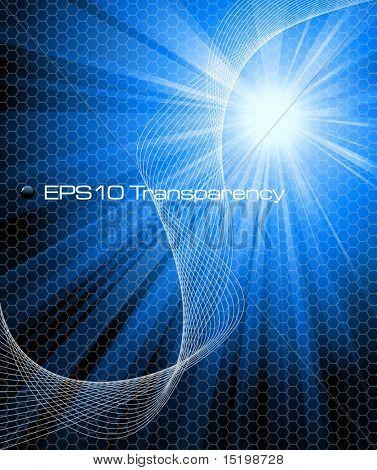 Blue abstract Background Vektor-illustration