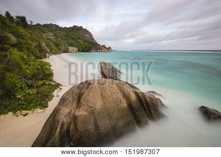Anse Source D'argent Long Exposure, Seychelles