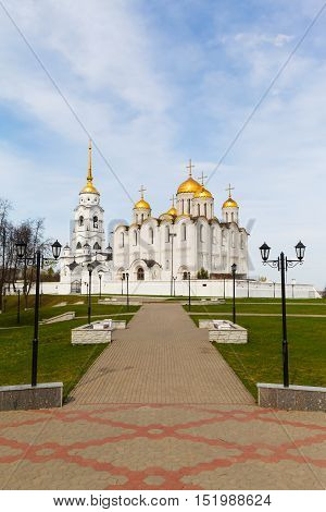 Assumption cathedral in Vladimir, Russia. Golden Ring of Russia.