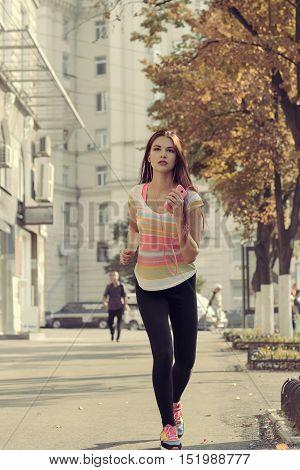 Girl On Morning Run.