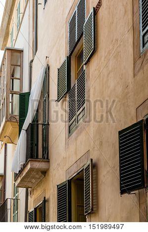 Old buildings in Palma de Mallorca Spain