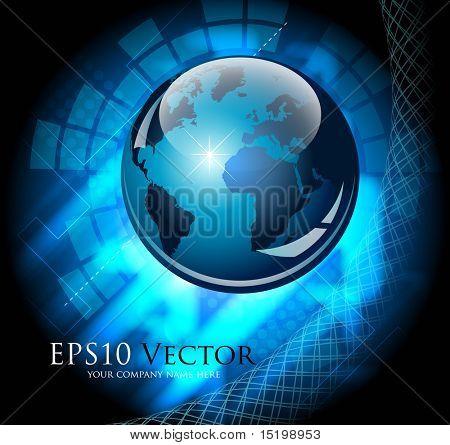 Composición de negocio abstracto azul - ilustración vectorial