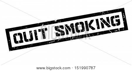 Quit Smoking Rubber Stamp