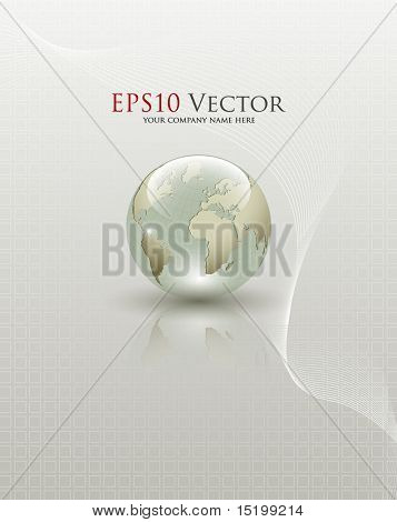 Abstract Earth globe composition - vector illustration