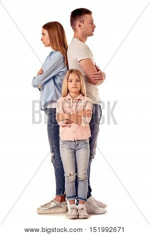 Little Girl And Her Parents