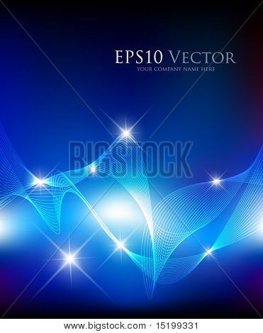 Blue fantasy composition - vector illustration