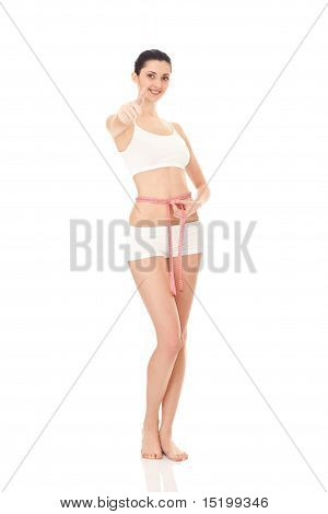 Woman Measuring Perfect Shape