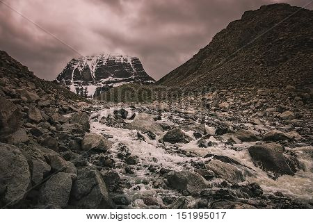 Mount Kailash - holy mountain in the Himalaya, Central Tibet