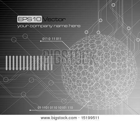 Technology background - vector illustration