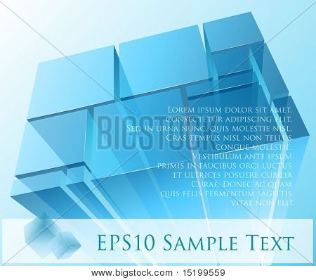 abstrakt transparente Module vector illustration