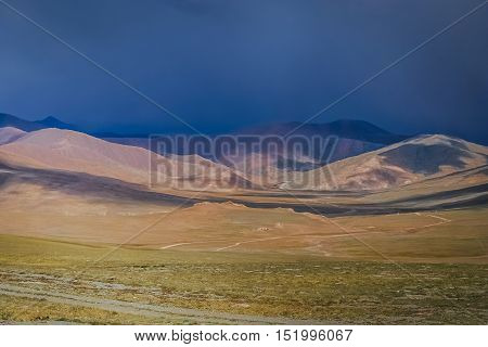 Beautiful landscape in the remote area of Central Tibet