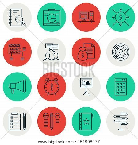 Set Of Project Management Icons On Investment, Report, Analysis And Other Topics. Editable Vector Il