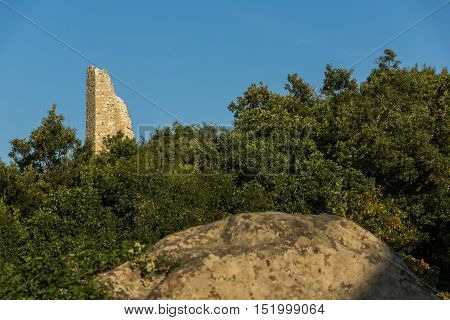 Tower in The ancient Thracian city of Perperikon, Kardzhali Region, Bulgaria