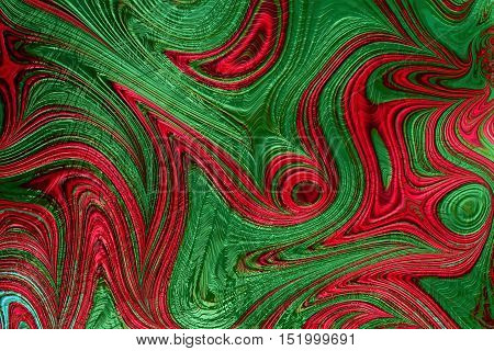 Abstract wavy background - computer-generated image. Fractal art: chaos waves, curls and stripes like surreal marble texture