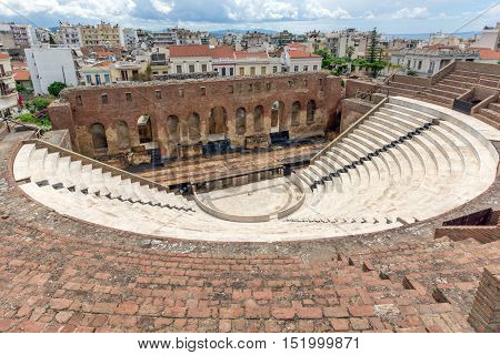 Ruins of Roman Odeon, Patras, Peloponnese, Western Greece