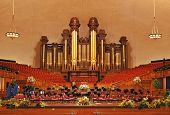 picture of tabernacle  - Interior of the Mormon Tabernacle building at Temple Square Salt Lake City Utah  - JPG