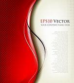 Постер, плакат: 3D красный фон композиция векторные иллюстрации