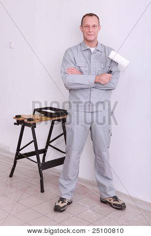 An onsite painter.
