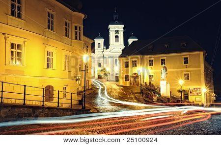 Banska Stiavnica in the night, Slovakia
