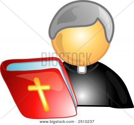 Priest Career Icon Or Symbol