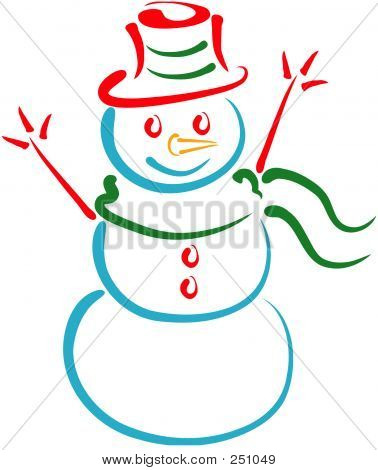 Snowman Lineart