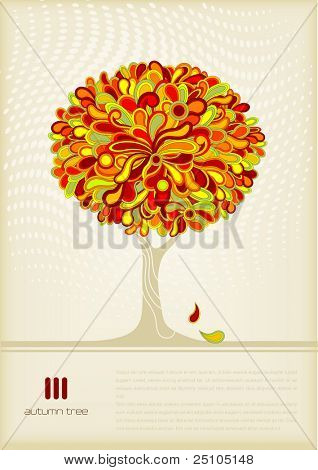 retro autumn-tree background