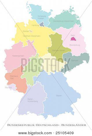 federal states of Germany - deutsche Bundeslaender